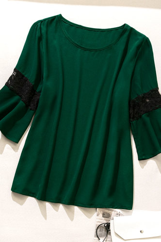 back_Winni Eden Dark Green Plus Blouse