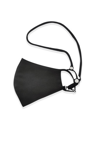 back_Face Mask Strap with Snap Closure