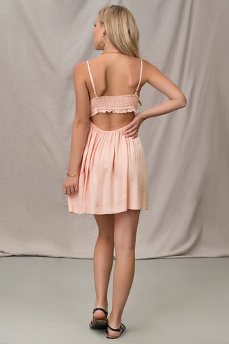 back_Love Is Ours Pink Mini Dress