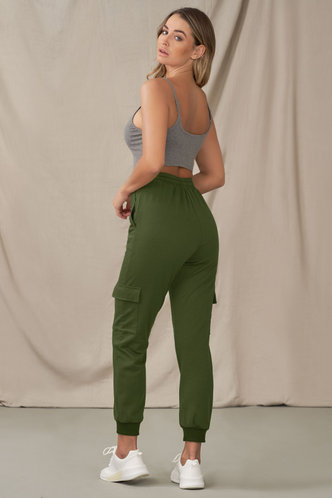 back_New Start Army Green Pants