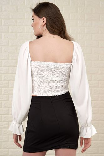 back_Orchid White Long Sleeve Top