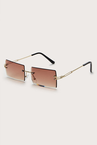 back_Square Brown Glasses & Eyewear accessories