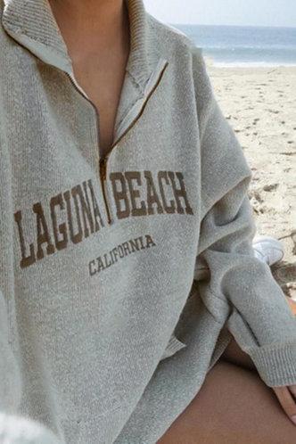 front_Madeleine Eartha Light Grey Sweatshirt