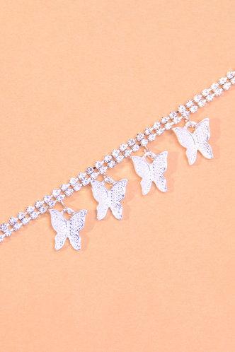 back_Sweet Rainstone Butterfly Silver Body Jewelry