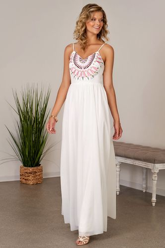front_Assemblage White Maxi Dress