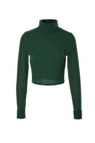 front_Miranda Dark Green Long Sleeve Top