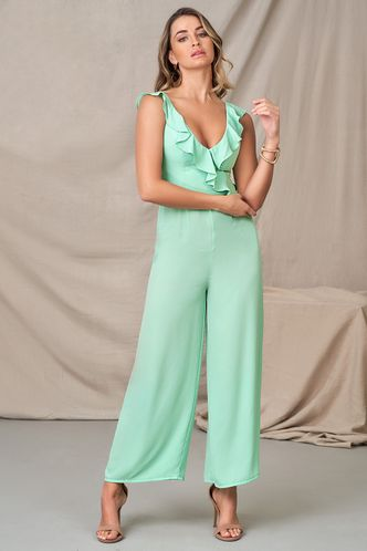 front_Close To Her Mint Green Jumpsuit
