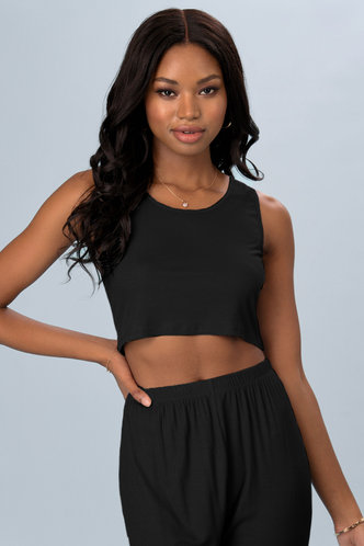 front_Love You Well Black Tank Top