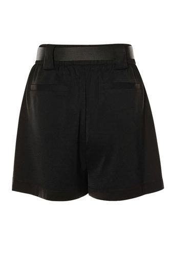 back_Utility Time Black Shorts