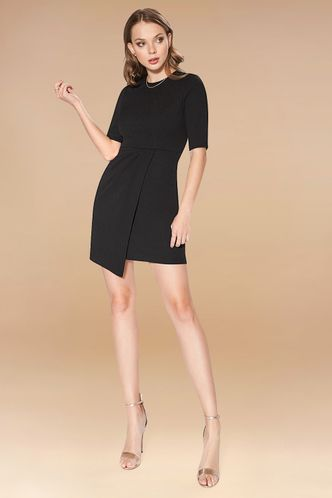 front_Starless Sky Black Mini Dress