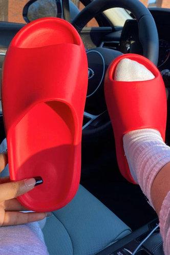 back_Cynthia Eunice Red Slide & Flip Flop