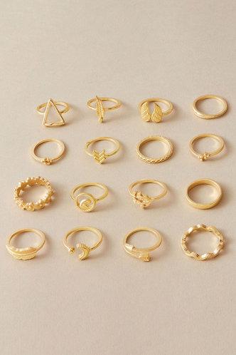 back_Daisy Elma Gold Engraved Ring 11pcs