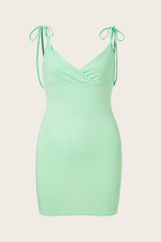 back_Serena Elizabeth Mint Green Plus Cami Bodycon Dress