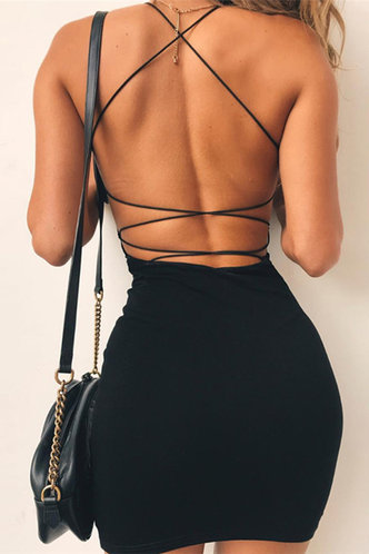 back_Joann Black Open Back Dress