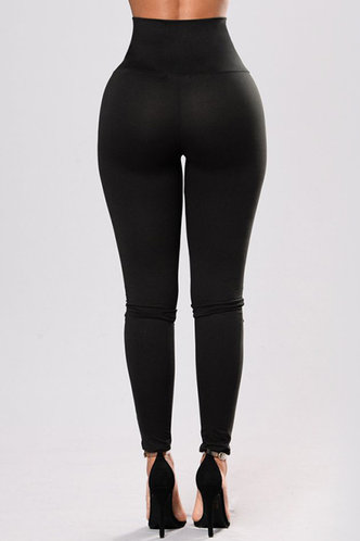 back_Kenna Eunice Black Leggings