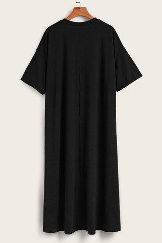 back_Leilani Black T-shirt Dress