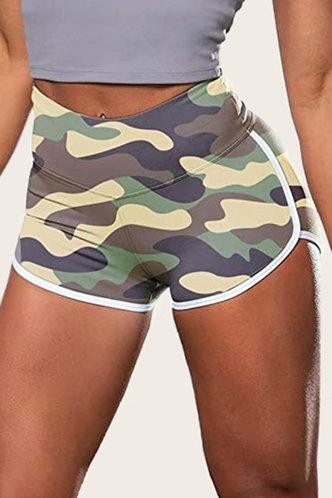 front_Betty Pepian Camo Shorts