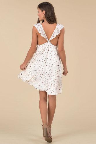 back_Annabelle Elaine White Floral Print Mini Dress