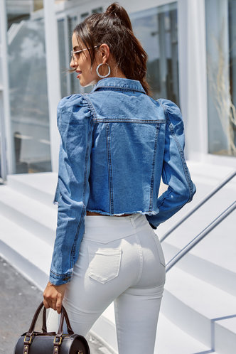 back_Hanaa Medium Wash Denim Jacket