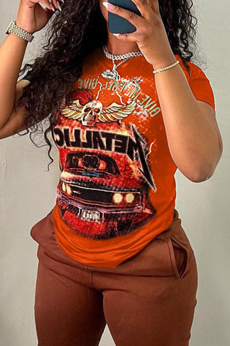 front_Bianca Enid Orange Tee