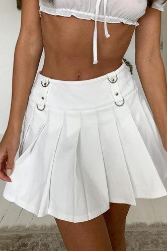 back_Martha Elvira White Skirt