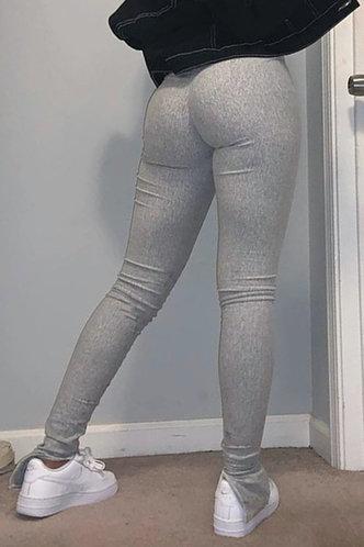 back_Ainslie Eleanore Grey Colorblock Activewear Bottom