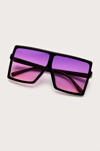 front_Summer Elizabeth Purple Square Frame Sunglasses