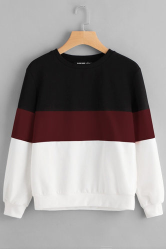 front_Hug Me Tight Multicolor Colorblock Sew Sweatshirt