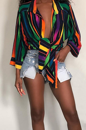 front_Hattie Eve Striped Button Up Blouse
