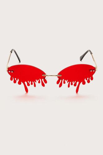 back_Tracy Ella Red Rimless Sunglasses