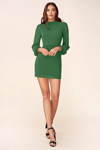 front_All I Want Green Mini Dress