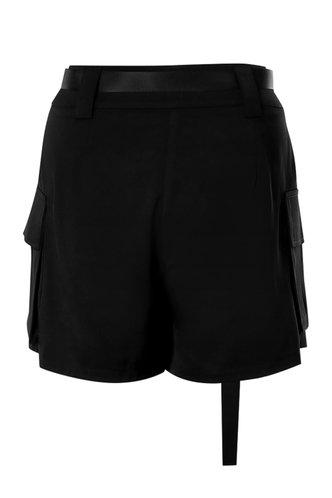 back_Pockets Please Black Utility Shorts