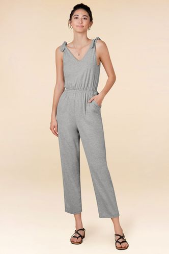 front_Cozy Grey Jumpsuit