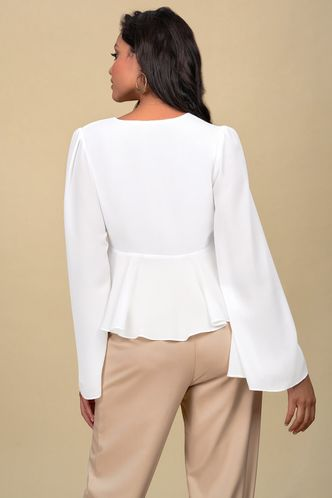 back_Enjoy Your Love White Long Sleeve Top