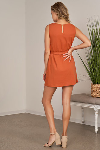 back_Dreamt Orange Mini Dress
