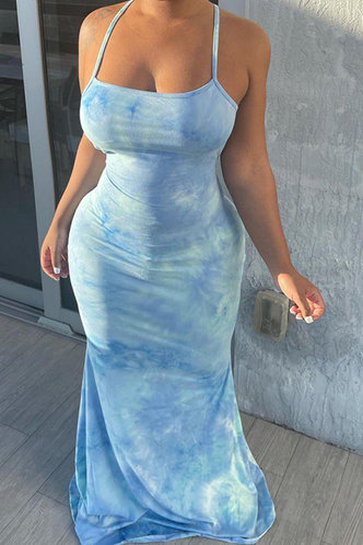 front_Deane Elma Sky Blue Halter Bodycon Dress