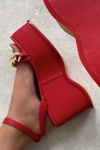 back_Enid Nomum Red Wedge Sandals