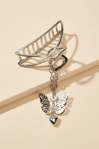 front_Renata Eden Sliver Butterfly Decor Hair Claw
