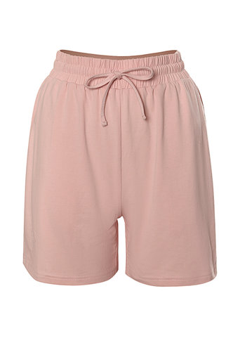 front_Comforting Blush Drawstring Shorts