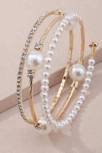 back_Laurel Erica Gold And White Bracelet
