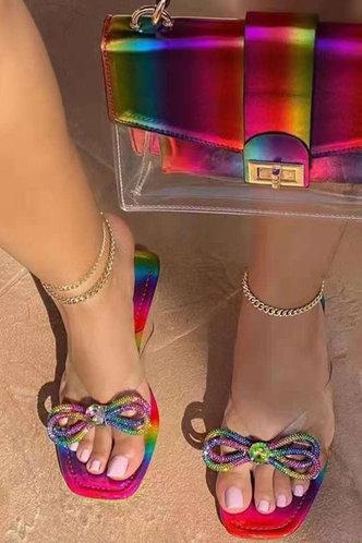 front_Gabrielle Korjas Ombre Bowknot Slide Sandals