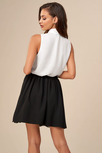 back_Something Sweet White Sleeveless Blouse