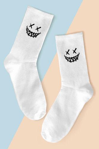 front_Adelina Erica White Socks 1pair