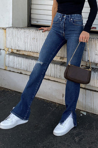 front_Carolyn Dark Blue Jeans