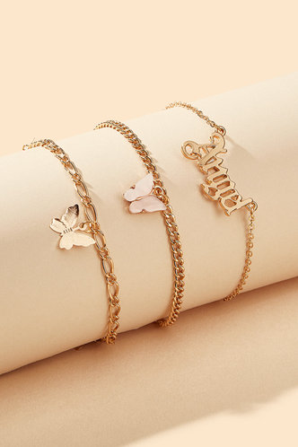 back_Janey Ella Gold Butterfly Charm Anklet 3pcs