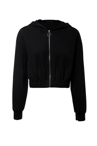 front_Who's That Black Zip Up Hoodie
