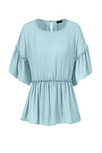 back_Dream Away Light Blue Short Sleeve Top