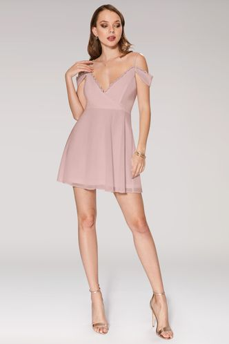 front_You Are The Reason Dusty Rose Mini Dress