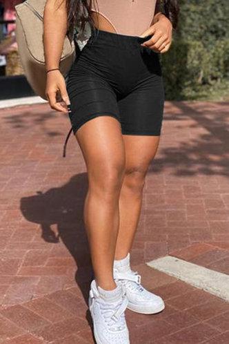 back_Ann Eleanore Black Shorts