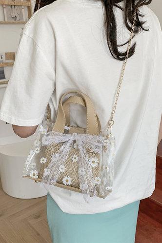 back_Rosamond Elvira Beige Satchel Bag